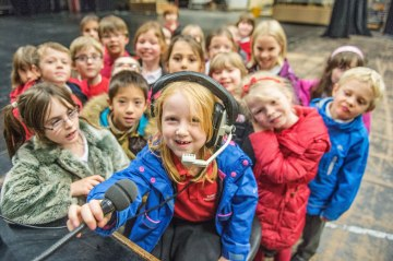 Image of children from Towerbank Primary School visiting Edinburgh's Festival Theatre